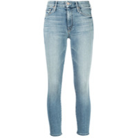 Mother The Looker Cropped Jeans - Azul