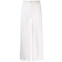 Mother Wide-Leg Cropped Jeans - Neutro