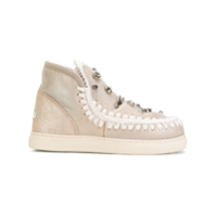 Mou Embellished Mini Eskimo Sneakers - Neutro