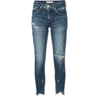 Moussy Vintage Mid-Rise Cropped Jeans - Azul