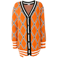 Mrz Diamond Knitted Cardigan - Laranja