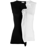 Mrz Two Tone Vest Top - Preto