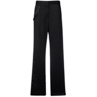 Msgm Calça Reta Color Block - Preto