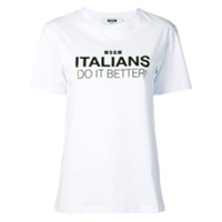 Msgm Camiseta 'italians Do It Better' - Branco