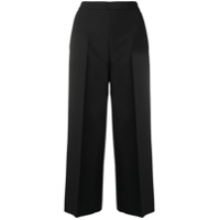 Msgm Cropped Tailored Trousers - Preto
