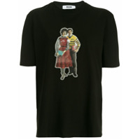 Msgm Graphic Print T-Shirt - Preto