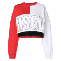 Msgm Moletom Color Block - Branco