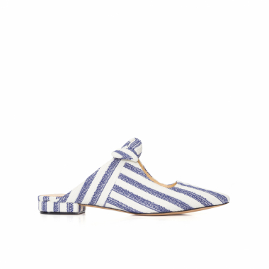Mule Feminino Evelyn Flat - Off White