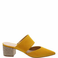Mule Natural Nobuck Yellow | Schutz