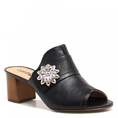 Mule Zariff Shoes Metal Couro