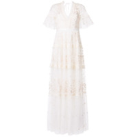 Needle & Thread Vestido De Festa Midsummer Com Renda - Branco