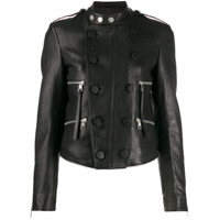Neil Barrett Double-Breasted Biker Jacket - Preto