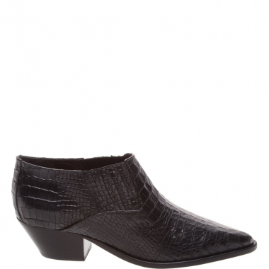 New Western Cut Boot Croco Black | Schutz