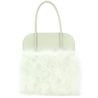 Nina Ricci Panelled Fluffy Tote - Verde