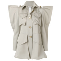 Nina Ricci Structured Shoulder Shirt Jacket - Cinza