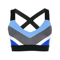 No Ka' Oi Blusa Cropped Color Block - Azul