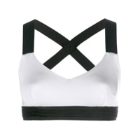 No Ka' Oi Blusa Cropped Color Block - Cinza