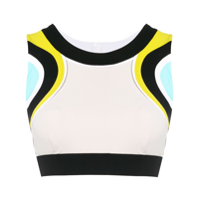 No Ka' Oi Top Esportivo Color Block - Preto