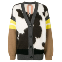 Nº21 Cardigan Color Block - Neutro
