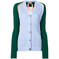 Nº21 Cardigan Color Block - Azul