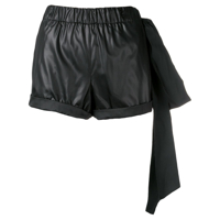 Nº21 Side Oversized Bow Shorts - Preto
