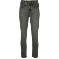 Nobody Denim Calça Jeans True Slim Cropped - Preto