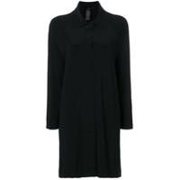 Norma Kamali Collared Long-Line Cardigan - Preto
