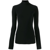 Norma Kamali Turtle Neck Top - Preto