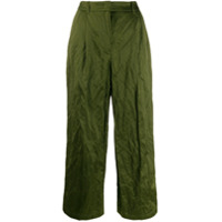 Odeeh Creased-Effect Trousers - Verde
