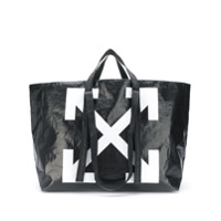 Off-White Arrow Logo Tote Bag - Preto