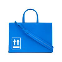 Off-White Bolsa Tote Box - Azul