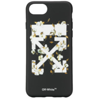 Off-White Capa Para Iphone 8 Floral - Preto