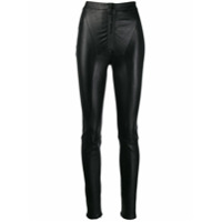 Off-White High-Rise Skinny Trousers - Preto