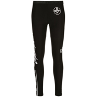 Off-White Legging Com Estampa Gráfica - Preto