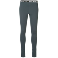 Off-White Legging Com Logo - Azul