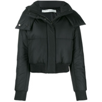 Off-White Puffer Bomber Jacket - Preto
