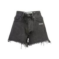 Off-White Short Jeans - Cinza