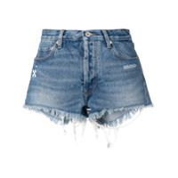 Off-White Short Jeans - Azul