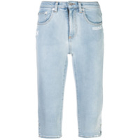 Off-White Skinny Cropped Jeans - Azul