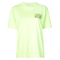 Off-White Camiseta Floral 'woman' - Verde