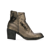 Officine Creative Ankle Boot 'agnes' Metálica De Couro - Metálico