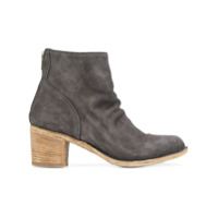 Officine Creative Ankle Boot De Camurça - Cinza
