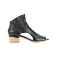 Officine Creative Ankle Boot De Couro Com Abertura Frontal - Preto
