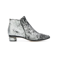 Officine Creative Ankle Boot 'soizic' Metálica De Couro - Metálico