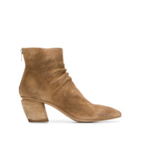 Officine Creative Pointed Ankle Boots - Marrom