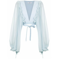 Olympiah Top Cropped 'damasco' - Crystal Blue