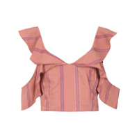 Olympiah Top Cropped 'drina' - Sepia