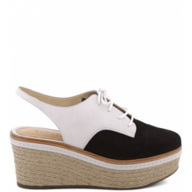 Open Back Oxford Bicolor Black | Schutz