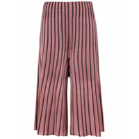 Osklen Calça Pleat Bicolor - Rosa