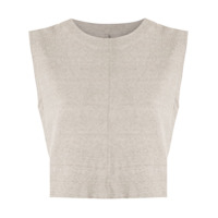 Osklen Top Cropped Rustic Eco - Neutro